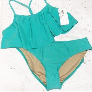 🎁 Old Navy Ruffle Braided-Racerback Bikini-Girls